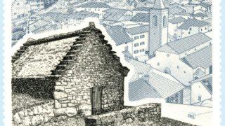 francobollo Poste Italiane - Capanne Celtiche